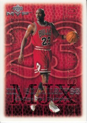 Michael Jordan Chicago Bulls 1999-00 Upper Deck MVP MJ Exclusives card #208