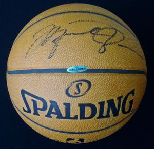 Michael Jordan autographed Spalding NBA game model leather basketball UDA