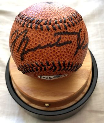 Michael Jordan autographed UDA Nike baseball basketball in custom display case