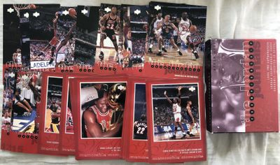 Michael Jordan Chicago Bulls Championship Journals 1997 Upper Deck 24 jumbo card boxed set