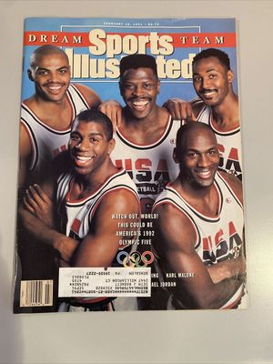 1992 USA Dream Team (Michael Jordan Charles Barkley Patrick Ewing Magic Johnson Karl Malone) 1991 Sports Illustrated