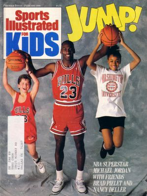 Michael Jordan Chicago Bulls 1989 Sports Illustrated for Kids magazine