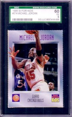Michael Jordan Chicago Bulls 1995 Sports Illustrated for Kids basketball card SGC graded 60 (Excellent)