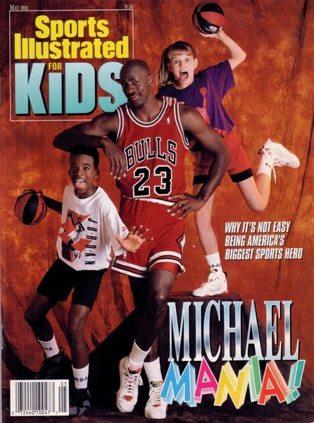 Michael Jordan Chicago Bulls May 1992 Sports Illustrated for Kids magazine (NO LABEL)