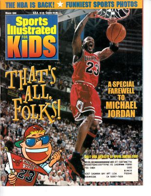 Michael Jordan Chicago Bulls March 1999 Sports Illustrated for Kids magazine