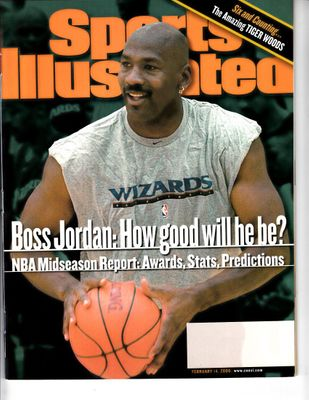 Michael Jordan Washington Wizards 2000 Sports Illustrated magazine