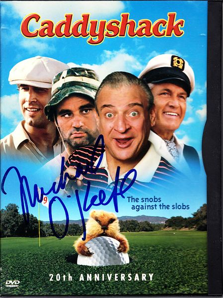 Michael O'Keefe autographed Caddyshack movie DVD box