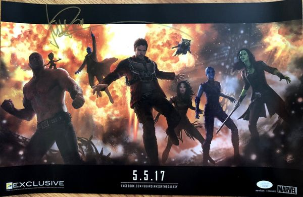 Michael Rooker autographed Guardians of the Galaxy 2 2016 San Diego Comic-Con exclusive Marvel movie poster (JSA)