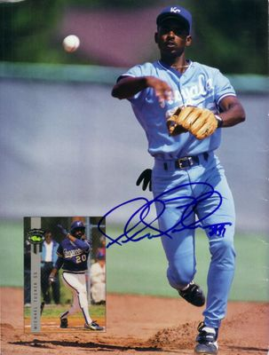 Michael Tucker autographed Royals Beckett magazine back cover photo