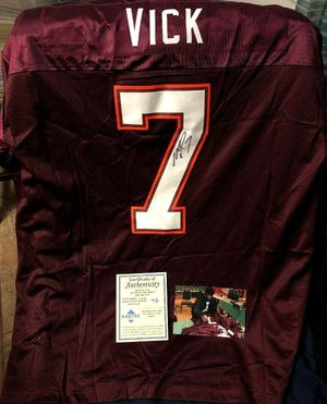 Michael Vick autographed Virginia Tech Hokies 2000 authentic Nike stitched throwback jersey