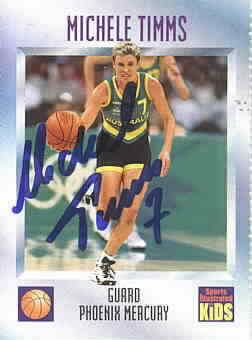 Michele Timms autographed 1997 Sports Illustrated for Kids card