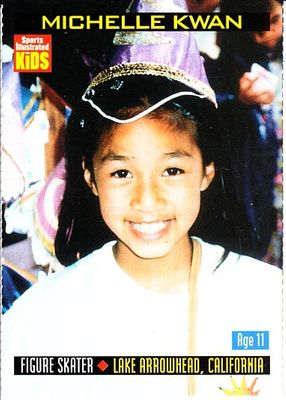 Michelle Kwan 2000 Sports Illustrated for Kids card