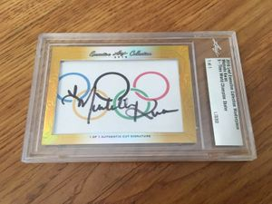 Michelle Kwan 2016 Leaf Masterpiece Cut Signature certified autograph card 1/1 JSA