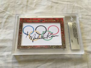 Michelle Kwan and Kristi Yamaguchi 2018 Leaf Masterpiece Cut Signature certified autograph card 1/1