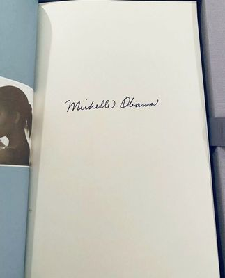 Michelle Obama autographed Becoming Deluxe Signed Edition hardcover book