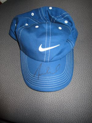 Michelle Wie autographed Nike blue golf cap or hat