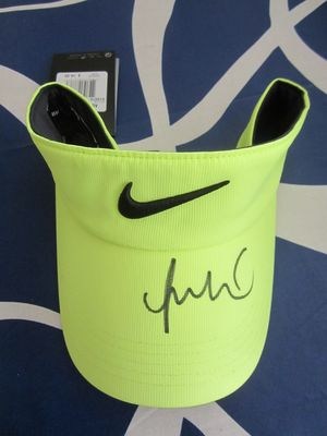 Michelle Wie autographed Nike golf yellow visor