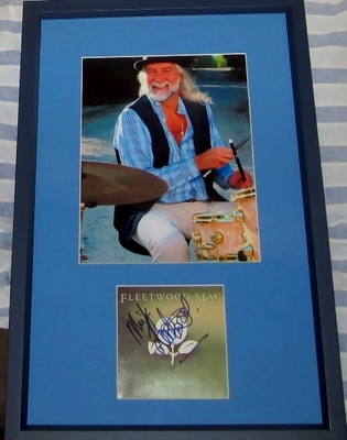 Mick Fleetwood autographed Fleetwood Mac Greatest Hits CD booklet cover matted & framed with 8x10 photo