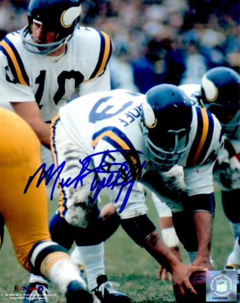 Mick Tingelhoff autographed Minnesota Vikings 8x10 photo