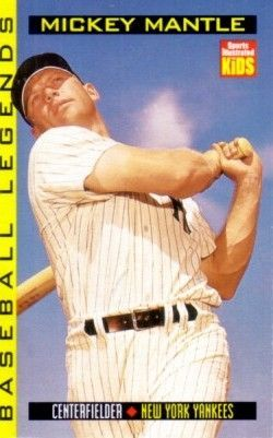 Mickey Mantle 1998 Sports Illustrated for Kids card