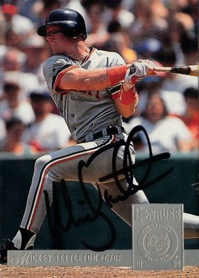 Mickey Tettleton autographed Detroit Tigers 1994 Donruss card