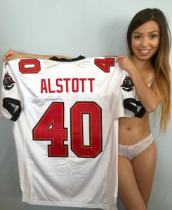 Mike Alstott Tampa Bay Buccaneers authentic Reebok game model white stitched jersey NEW