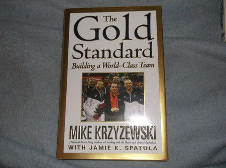 Mike (Coach K) Krzyzewski autographed The Gold Standard hardcover first edition book