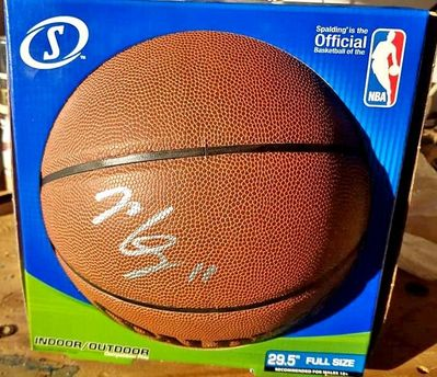 Mike Conley autographed Spalding NBA indoor/outdoor basketball (PSA/DNA)