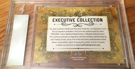 Mike Ditka 2018 Leaf Masterpiece Cut Signature certified autograph card 1/1 JSA