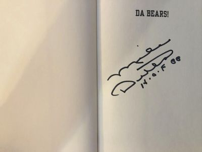 Mike Ditka autographed Da Bears! hardcover first edition book inscribed H.O.F. 88