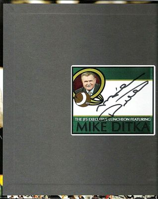 Mike Ditka autographed 1985 Chicago Bears 25th Anniversary hardcover coffee table book