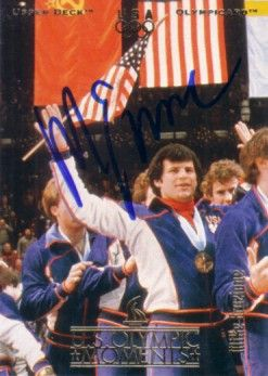 Mike Eruzione autographed 1980 Miracle on Ice USA Olympic Upper Deck card