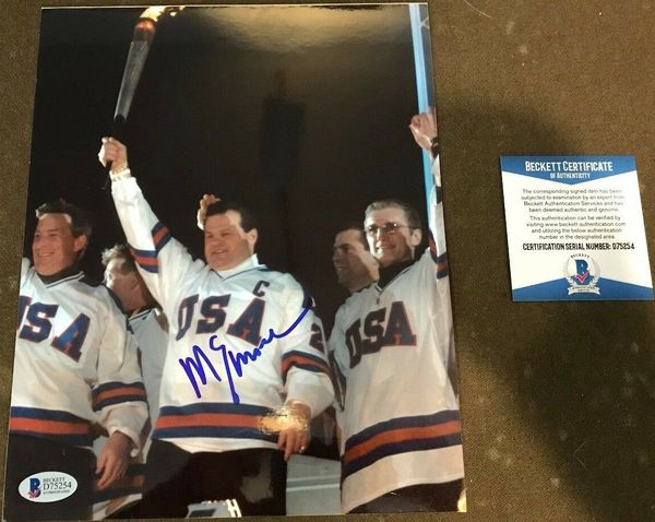 Mike Eruzione autographed 2002 Winter Olympics Opening Ceremony 8x10 photo (BAS authenticated)