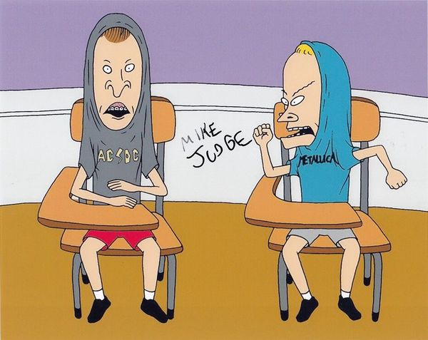 Mike Judge autographed Beavis and Butt-Head 8x10 photo