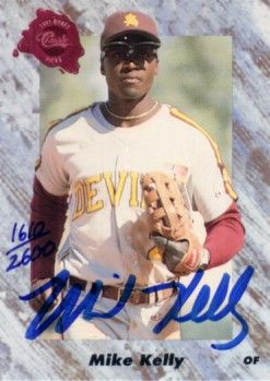 Mike Kelly certified autograph Arizona State 1991 Classic card