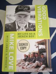 Mike Love autographed Good Vibrations: My Life as a Beach Boy hardcover book