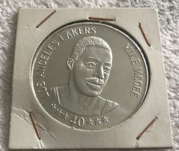 Mike McGee Los Angeles Lakers 1985-86 Denny's coin