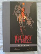 Mike Mignola autographed Hellboy In Hell The Death Card 2016 Comic-Con exclusive hardcover book