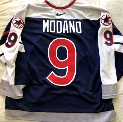 Mike Modano 1998 USA Olympic Team authentic Nike stitched jersey