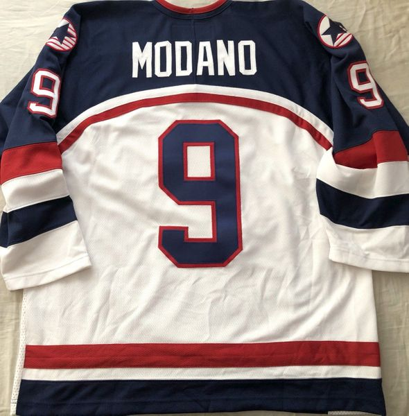Mike Modano 2002 U.S. Olympic Hockey Team authentic stitched white Nike jersey