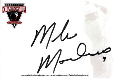 Mike Modano autographed 4x6 signature card