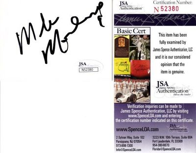 Mike Modano autographed blank white card or cut signature (JSA)