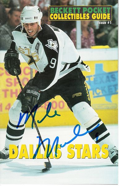 Mike Modano autographed Dallas Stars Beckett mini magazine