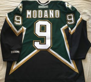 Mike Modano Dallas Stars authentic CCM triple stitched black and green jersey NEW