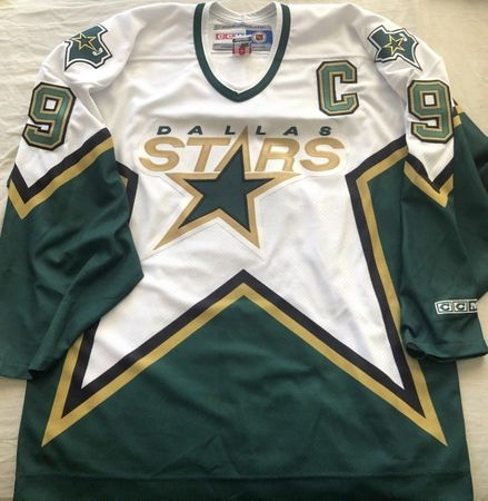 Mike Modano Dallas Stars authentic CCM triple stitched white and green jersey LIKE NEW