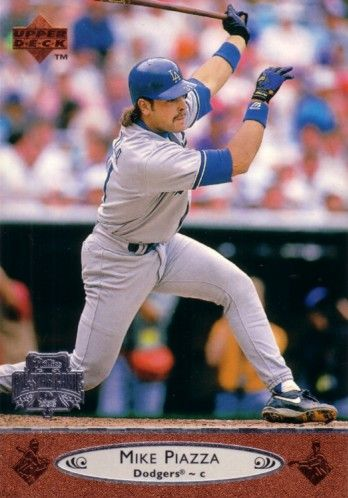 Mike Piazza Los Angeles Dodgers 1996 Upper Deck All-Star Game jumbo card