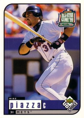 Mike Piazza 1999 Upper Deck All-Star Game jumbo card