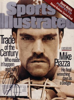 Mike Piazza autographed Los Angeles Dodgers 1998 Sports Illustrated