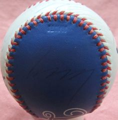Mike Piazza Eric Karros Raul Mondesi Hideo Nomo autographed Los Angeles Dodgers Spinneybeck leather logo baseball