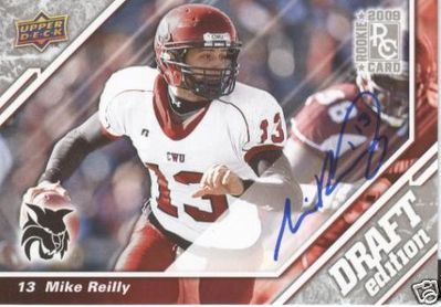 Mike Reilly certified autograph Central Washington 2009 Upper Deck Rookie Card